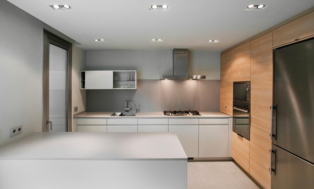 Cristina Prats Arquitectura Interiorismo Casa en Barcelona Cocina Leicht Enedos